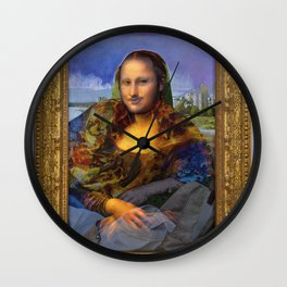Mona (Kevin) Lisa : Satire + Contemporary Fine Art Wall Clock