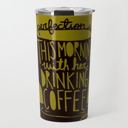 Perfection Is in Brown and Mustard Travel Mug