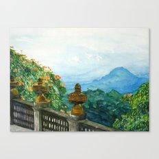 The View from La Cieba Grafica Canvas Print
