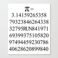 pi Canvas Prints featuring Pi by Anton Nikulin
