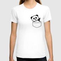 pocket T-shirts featuring Pocket panda by Jaxxx