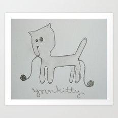 yarnkitty Art Print