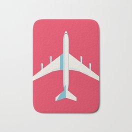 707 Passenger Jet Airliner Aircraft - Crimson Bath Mat