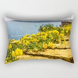 Flowers On The Fortress Rectangular Pillow