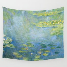 Water Lilies 1906 by Claude Monet Wall Tapestry