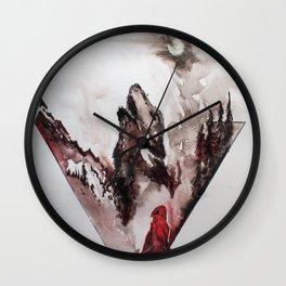 Red Cloak Wall Clock