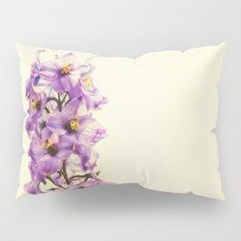 Purple Larkspur Delphinium Flowers Pillow Sham