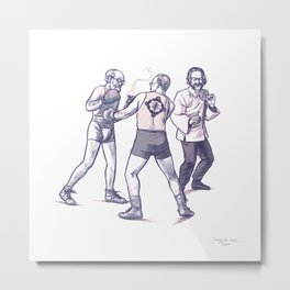 Freud, Jung, and Watts, walk into a bar... Metal Print