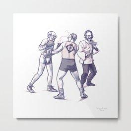 Freud, Jung, and Watts, walk into a bar... Metal Print