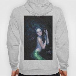 Lady of the Deep Mermaid Oil Painting Hoody