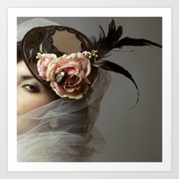 hat Art Prints featuring hat by Cunene