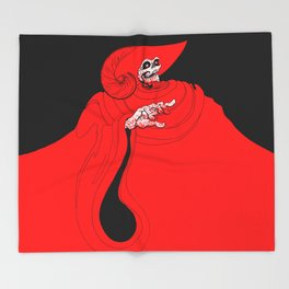 The Red Death Throw Blanket