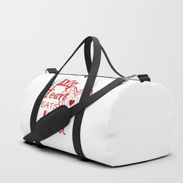 My Heart Beats For You Duffle Bag