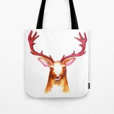 Deer Watercolor Print Tote Bag