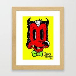 JUNKY DEVIL Framed Art Print