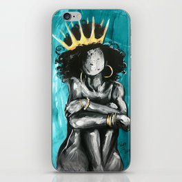 Naturally Queen IX TEAL iPhone Skin