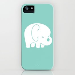Mod Baby Elephant Teal iPhone Case