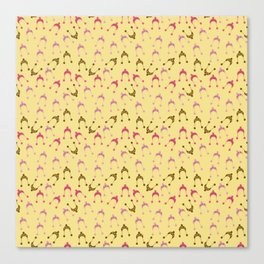 hats pink beige Canvas Print