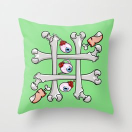 Halloween Tic Tac Toe Throw Pillow