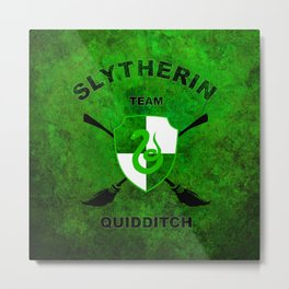 Slytherin Quidditch Team Metal Print