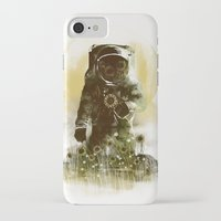 sunflower iPhone & iPod Cases featuring Sunflower Field by dan elijah g. fajardo