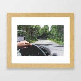 Between the Pines Framed Art Print