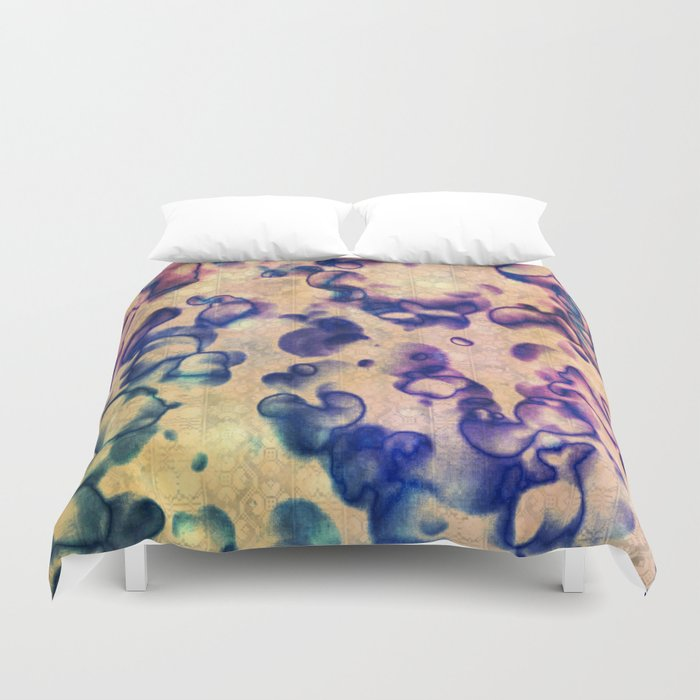 Under The Microscope Abstract Duvet Cover