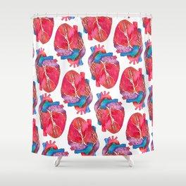 Anatomical Heart Shower Curtain