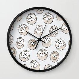 HEDGEHOG PATTERN BEIGE Wall Clock