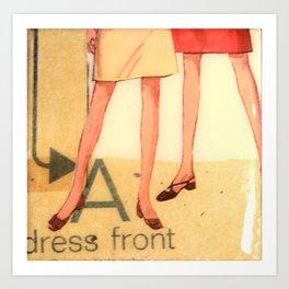 Dress Front Art Print