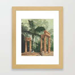 Jungle Ruins Framed Art Print