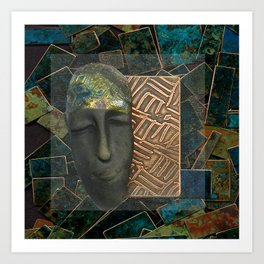 #9 Face & Metal Digital Collage Art Print