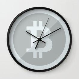 Bitcoin Silver Coin Wall Clock