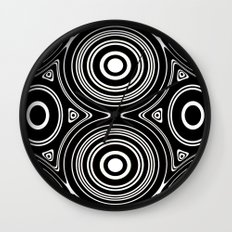 Concentric Circles and Ovals Pattern Wall Clock