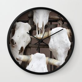 Cow Skulls Wall Clock