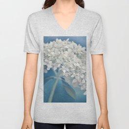Beautiful White Hydrangea 276 Unisex V-Neck