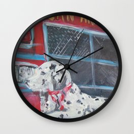 Fire Station Dalmation Wall Clock