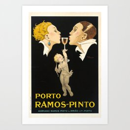 Vintage Wine Poster - Porto Ramos Pinto by Rene Vincent - Vintage French Wine Poster Art Print