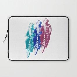 Albert Einstein by bike Laptop Sleeve