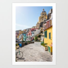 Procida Island Street,Naples,Italy Art Print
