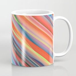multicolored lines  Coffee Mug