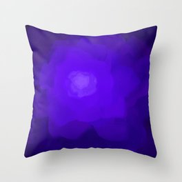 Glowing Blue Rose Emerging from  Darkness Throw Pillow