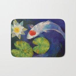 Tancho Koi and Water Lily Bath Mat