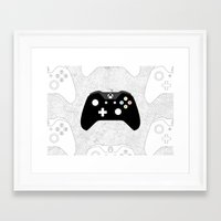 xbox Framed Art Prints featuring Xbox One Controller by Tino-George