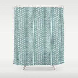 flint vintage moroccan - dusty blue Shower Curtain