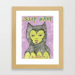 SUP BABY Framed Art Print