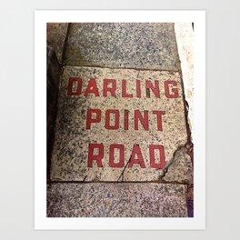 Darling Point Road Art Print