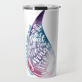 John 7:38 - Living water watercolour Travel Mug