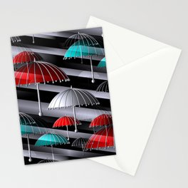 time for umbrellas, seamless Stationery Cards