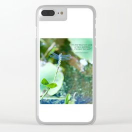It's not what you look at that matters... Clear iPhone Case
